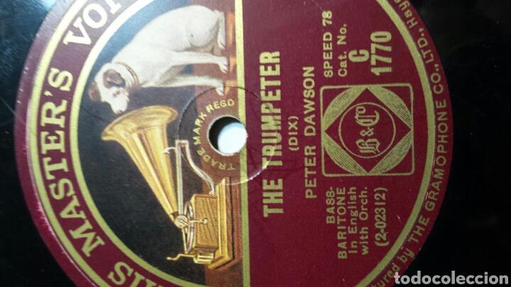 Discos de pizarra: Antiguo Disco de Pizarra para Gramola Peter Dawson - Foto 2 - 69884230