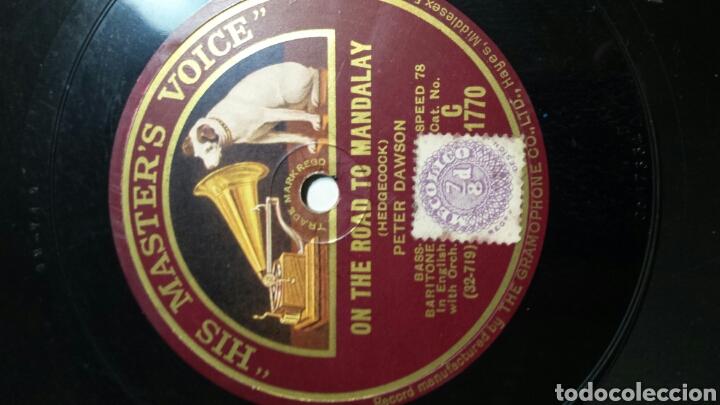 Discos de pizarra: Antiguo Disco de Pizarra para Gramola Peter Dawson - Foto 3 - 69884230