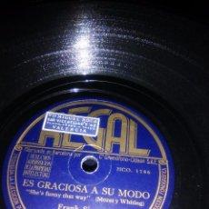Discos de pizarra: DISCO DE FRAN SINATRA DE PIZARRA CUANDO EL AMOR TE HA DEJADO ES GRACIOSO A SU MODO. Lote 70184413