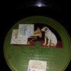 Discos de pizarra: DOS DISCOS OBRA LOS FAROLES A DE SRTA POZAS MIGUEL LIGERO DE PIZARRA. Lote 70185873