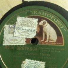 Discos de pizarra: DISCO DE PIZARRA DE CARMEN FLORES MAJA Y GROTESCA. Lote 70222649