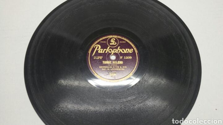 DISCO DE PIZARRA PARA GRAMOLA TANGOS RARO Y FIRMADO (Música - Discos - Pizarra - Otros estilos)