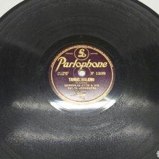 Discos de pizarra: DISCO DE PIZARRA PARA GRAMOLA TANGOS RARO Y FIRMADO. Lote 70226111