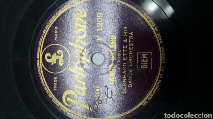 Discos de pizarra: Disco de Pizarra para Gramola Tangos raro y firmado - Foto 2 - 70226111