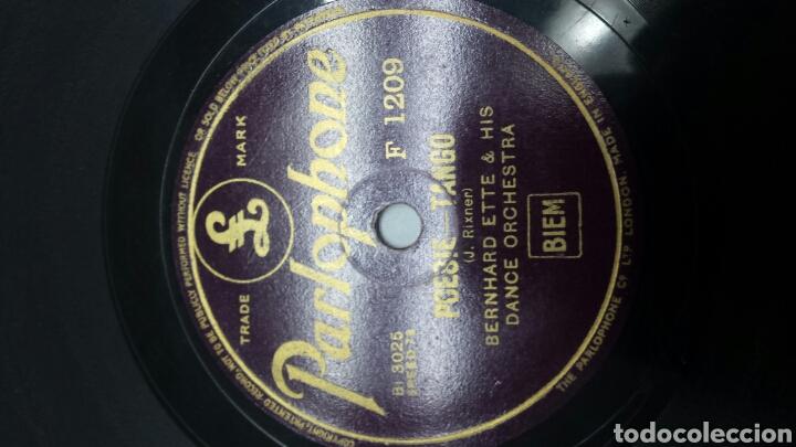 Discos de pizarra: Disco de Pizarra para Gramola Tangos raro y firmado - Foto 3 - 70226111