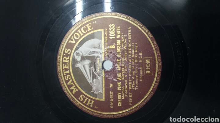 Discos de pizarra: Disco de Pizarra para Gramola de Rumba y Mambo raro - Foto 3 - 70260265