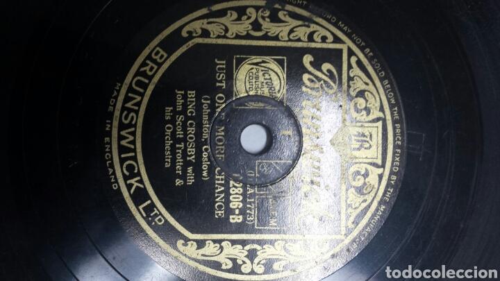 Discos de pizarra: Disco de Pizarra para Gramola de Bing Crosby raro - Foto 2 - 70268983