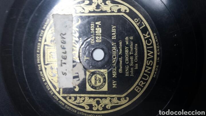Discos de pizarra: Disco de Pizarra para Gramola de Bing Crosby raro - Foto 3 - 70268983