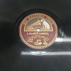 Discos de pizarra: DISCO DE PIZARRA PARA GRAMOLA DE WALTER GLYNNE RARO. Lote 70269201