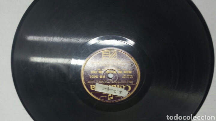 DISCO DE PIZARRA PARA GRAMOLA DEL FILM BROADWAY (Música - Discos - Pizarra - Solistas Melódicos y Bailables)