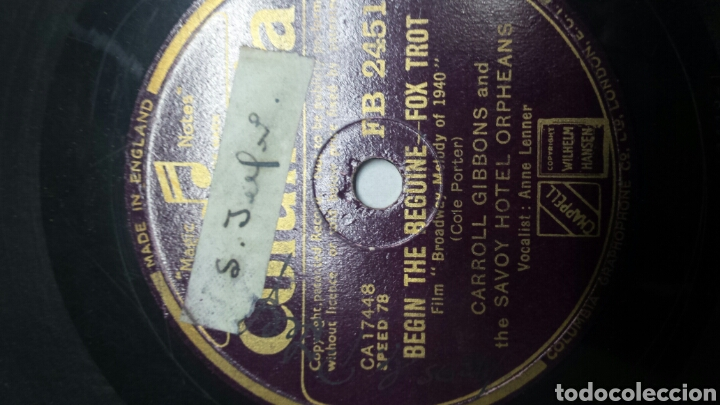 Discos de pizarra: Disco de Pizarra para Gramola del film Broadway - Foto 2 - 70269271