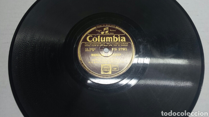 DISCO DE PIZARRA PARA GRAMOLA DE MADELAINE (Música - Discos - Pizarra - Solistas Melódicos y Bailables)