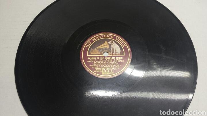 DISCO DE PIZARRA PARA GRAMOLA MARCHA MILITAR (Música - Discos - Pizarra - Clásica, Ópera, Zarzuela y Marchas)