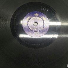 Discos de pizarra: DISCO DE PIZARRA PARA GRAMOLA TAMAÑO RARO. Lote 70272270