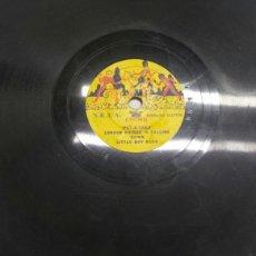 Discos de pizarra: DISCO DE PIZARRA PARA GRAMOLA TAMAÑO RARO. Lote 70272385