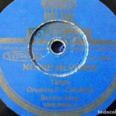 Discos de pizarra: DISCO ODEON / GRAMÓFONO / TANGO NO ME OLVIDES / Y VALS CAMPANAS DE HAWAI DE LA ORQUESTA F.CANARO . Lote 70462421