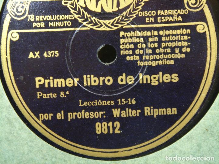 Discos de pizarra: 11X DISCO PIZARRA - CURSO DE INGLES ¡¡PERFECTOS¡¡ REGAL VIVA TONAL - PRIMER LIBRO -WALTER RIPMAN - Foto 2 - 71441427