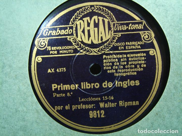 Discos de pizarra: 11X DISCO PIZARRA - CURSO DE INGLES ¡¡PERFECTOS¡¡ REGAL VIVA TONAL - PRIMER LIBRO -WALTER RIPMAN - Foto 3 - 71441427
