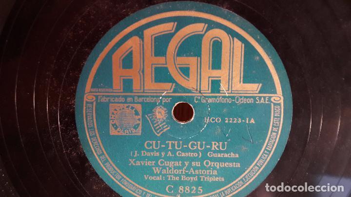 Discos de pizarra: PIZARRA !! XAVIER CUGAT Y SU ORQUESTA. TICO TICO / CU-TU-GU-RU / REGAL - 25 CM. - Foto 2 - 71578779