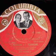Discos de pizarra: PIZARRA !! EDGAR DERIDOUX / FELIX TERWAGNE. MI CABAÑA EN CANADA / COLUMBIA - 25 CM. DIFÍCIL.. Lote 71579647