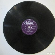 Discos de pizarra: FRANK SINATRA 'JUST ONE OF THOSE THINGS' - 'YOU MY LOVE' 10'' SELLO CAPITOL. Lote 71624451