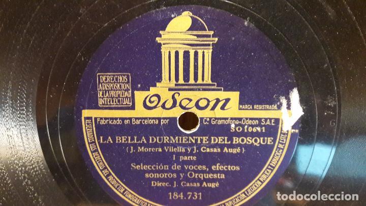 PIZARRA !! LA BELLA DURMIENTE DEL BOSQUE / ODEON - 25 CM / BUENA CALIDAD. (Música - Discos - Pizarra - Otros estilos)