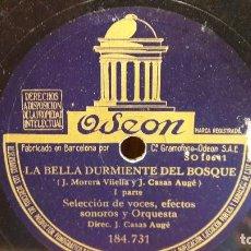 Discos de pizarra: PIZARRA !! LA BELLA DURMIENTE DEL BOSQUE / ODEON - 25 CM / BUENA CALIDAD.. Lote 72242855