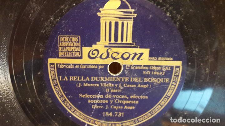 Discos de pizarra: PIZARRA !! LA BELLA DURMIENTE DEL BOSQUE / ODEON - 25 CM / BUENA CALIDAD. - Foto 2 - 72242855