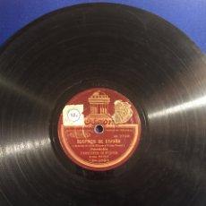 Discos de pizarra: DISCO GRAMÓFONO EDEON. SUSPIROS DE ESPAÑA. RUBORES. PASODOBLE CONCHITA SUPERVIA.. Lote 72407853