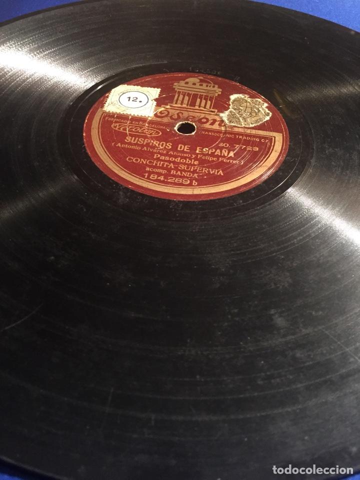 Discos de pizarra: Disco gramófono Edeon. Suspiros de España. Rubores. Pasodoble Conchita Supervia. - Foto 3 - 72407853