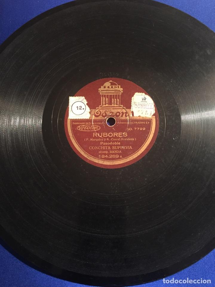 Discos de pizarra: Disco gramófono Edeon. Suspiros de España. Rubores. Pasodoble Conchita Supervia. - Foto 4 - 72407853