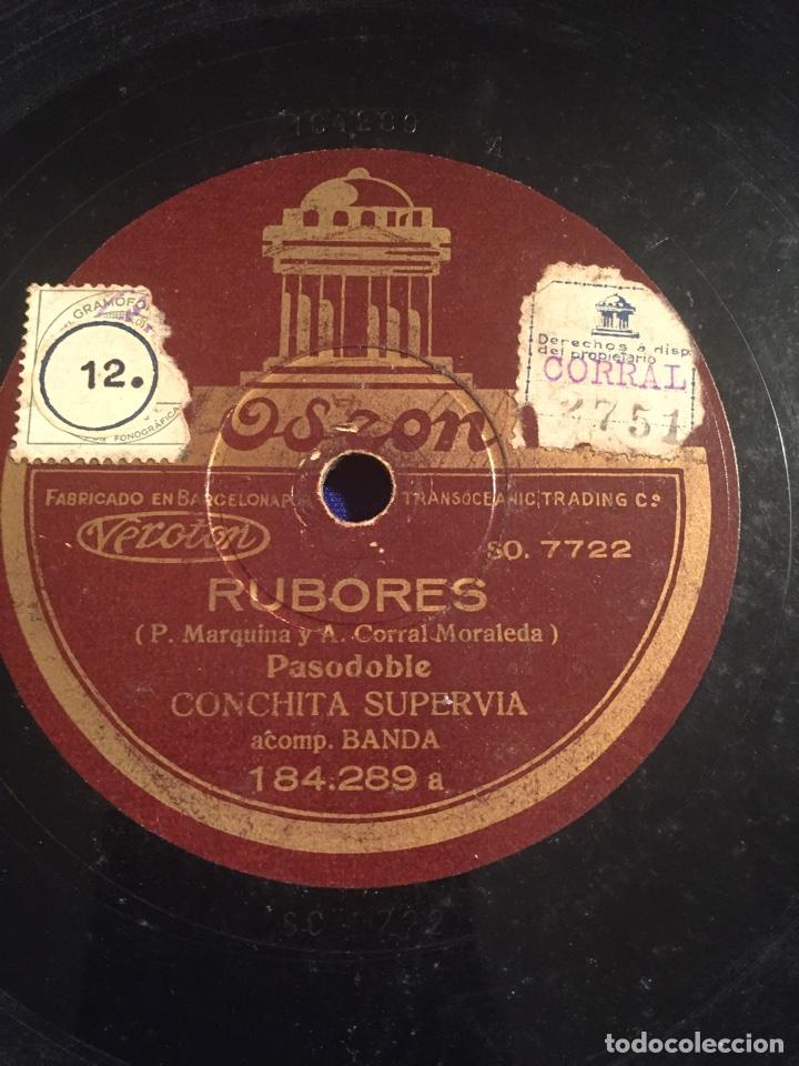 Discos de pizarra: Disco gramófono Edeon. Suspiros de España. Rubores. Pasodoble Conchita Supervia. - Foto 5 - 72407853