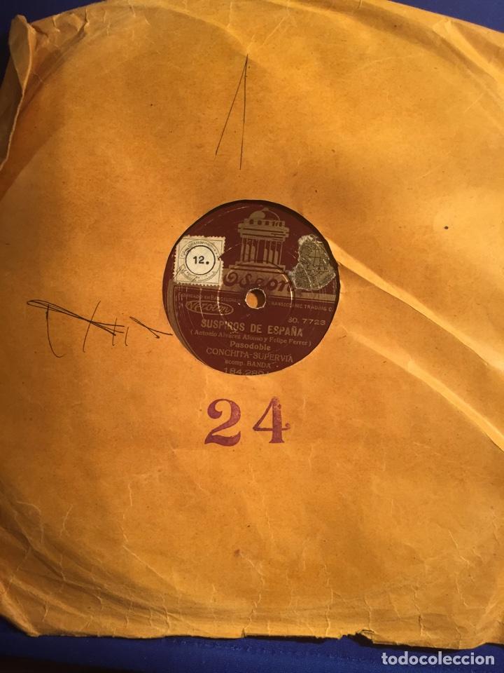 Discos de pizarra: Disco gramófono Edeon. Suspiros de España. Rubores. Pasodoble Conchita Supervia. - Foto 6 - 72407853