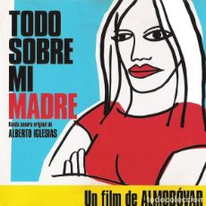 Discos de pizarra: TODO SOBRE MI MADRE, FILM, CD SPAIN 1990 (VANGUARDIA 001) . Lote 72707439