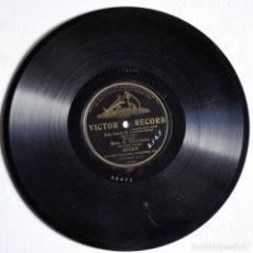 Discos de pizarra: DISCO DE PIZARRA 78 RPM. ARIA DE LA LOCURA, LUCIA DE LAMMERMOOR.. Lote 72812395