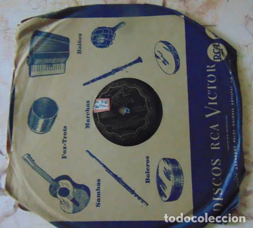 RAFTERO / CARIOCA - ORQUESTA DE LOS ESTUDIOS PARAMOUNT - DISCO PIZARRA 78 RPM (Música - Discos - Pizarra - Bandas Sonoras y Actores )
