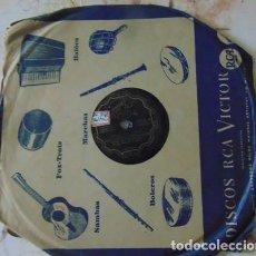 Discos de pizarra: RAFTERO / CARIOCA - ORQUESTA DE LOS ESTUDIOS PARAMOUNT - DISCO PIZARRA 78 RPM. Lote 73517827