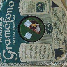 Discos de pizarra: EL ALMA DE LA COPLA (QUINTERO- GUILLEN) ACTO1 CUADRO 2 GUERRITA, SRA. ADAMUZ Y SR. PARIS CON ACOMP.. Lote 73519215
