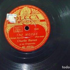 Discos de pizarra: CHARLIE BARNET, THE MOOSE, SKY LINEN, DECCA RD.40056.. Lote 105956880