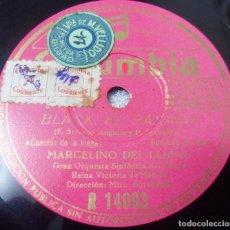 Discos de pizarra: DISCO DE PIZARRA. BLACK EL PAYASO. MARCELINO DEL LLANO. CANCIÓN DE LA SIEGA / MANUEL GAS. Lote 74209563
