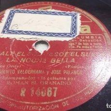 Discos de pizarra: JOSÉ PALANCA Y JUANITO VALDERRAMA. Lote 74305207