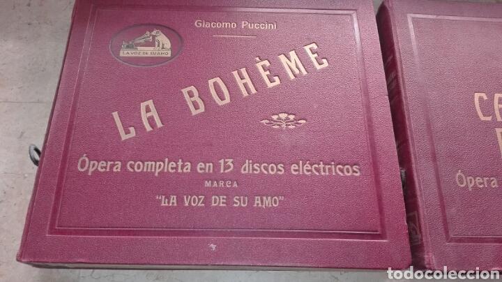 OPERA LA BOHEME 13 DISCOS LA VOZ DE SU AMO - LEER DESCRIPCIÓN - (Música - Discos - Pizarra - Clásica, Ópera, Zarzuela y Marchas)