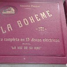 Discos de pizarra: OPERA LA BOHEME 13 DISCOS LA VOZ DE SU AMO - LEER DESCRIPCIÓN -. Lote 74624510
