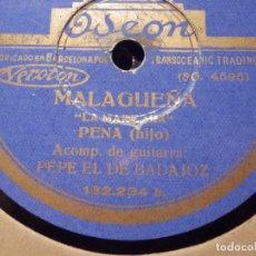 Discos de pizarra: DISCO DE PIZARRA - PENA - HIJO - POR DIOS NO PIERDAS LA HONRA / LA MARE MIA - ODEON 132.234. Lote 77443925