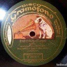 Discos de pizarra: DISCO GRAMOFONO .PARISIEN TORRES Y VERY NICE TOO ...(REF-1AC). Lote 77948565