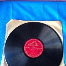 Discos de pizarra: DISCO DE PIZARRA 'VICTROLA RECORD'- AÏDA - FINALE ULTIMO - VERDI - ENRICO CARUSO - JOHANNA GADSKI . Lote 78078213