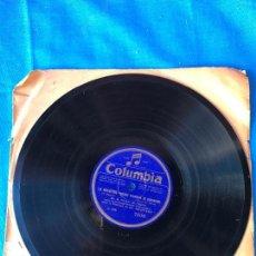 Discos de pizarra: DISCO DE PIZARRA 'COLUMBIA'- LA WALKYRIE - CHANT D'AMOUR DE SIEGMUND - WERTHER - G. THILL. Lote 78079385