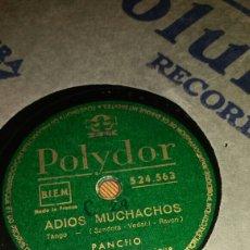 Discos de pizarra: ADIOS MUCHACHOS/YIRAI YIRAI. Lote 78177974