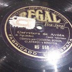 Discos de pizarra: DISCO DE PIZARRA FOLKLORE REGIONAL CANCIÓN ASTURIANA. Lote 78365013