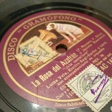 Discos de pizarra: DISCO DE GRAMÓFONO (PIZARRA). LA ROSA DEL AZAFRÁN. JOTA CASTELLANA Y ROMANZA DE SAGRARIO. 78 REV.. Lote 78442983